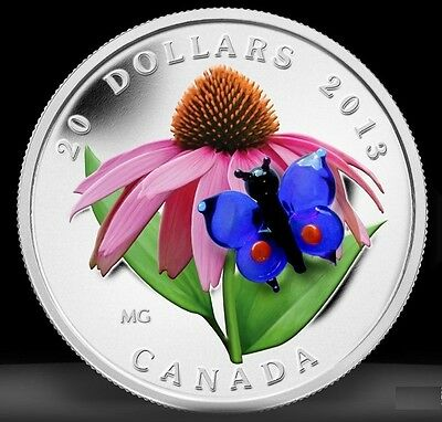$219.95 • Buy 2013 Canada $20 Murano Venetian Glass Butterfly 1oz Silver Proof Coin Coloured