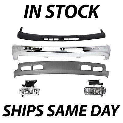 $350.99 • Buy NEW Complete Front Bumper Kit W/ Fog Lights For 2000-2006 Chevy Suburban Tahoe