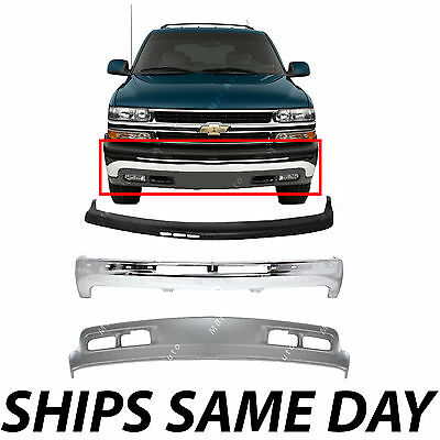 $300.99 • Buy Brand New Complete Steel Front Bumper Kit For 2000-2006 Chevy Suburban Tahoe