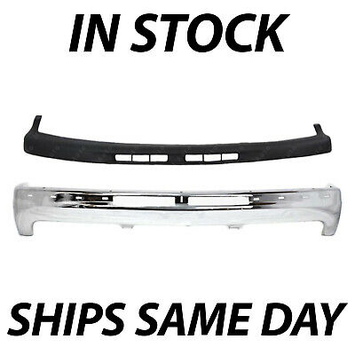 $250.99 • Buy NEW Steel Front Bumper Kit W/ Upper Cover Pad For 1999-2002 Chevy Silverado 1500