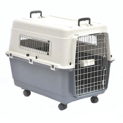 View Details Barkshire Heavy Duty Plastic Dog Carrier Airline Approved - Grey/White XLarge • 89.99£