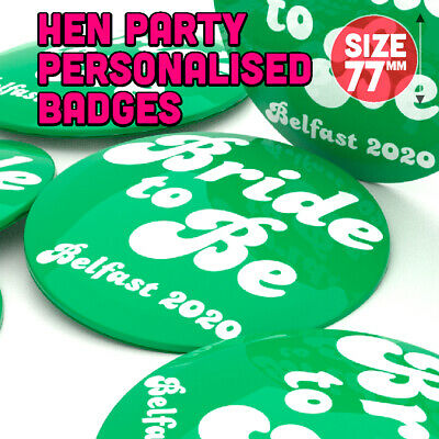£1.50 • Buy Hen Party Personalised Badges Hen Night Badge Bride To Be Wedding Party