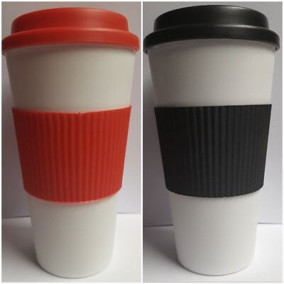 £3.50 • Buy Pk Of 2 Eco Cups & Lid Ideal For Replacing Disposable Shop Coffee Cups!