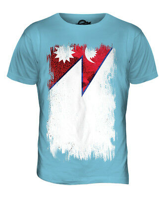 Nepal Grunge Flag Mens T-shirt Tee Top Nep?la Nepali Nepalese Shirt Football • 18£