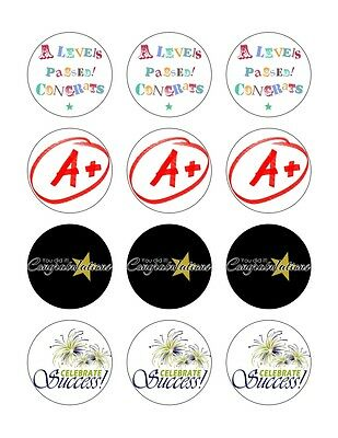 £1.99 • Buy 12x 5.5cm CONGRATULATIONS A-LEVELS EDIBLE FONDANT/WAFER FAIRY CUP CAKE TOPPERS