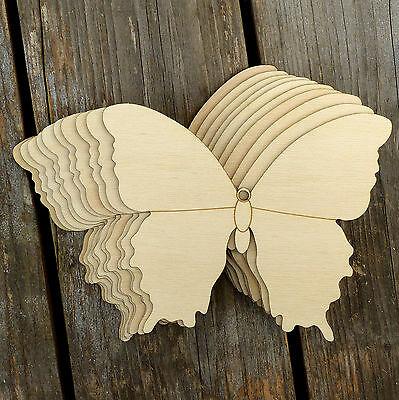10x Wooden Simple Butterfly Style D Craft Shapes 3mm Plywood Insect And Wildlife • 5.49£