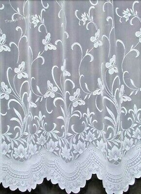 £4.19 • Buy ENCHANTED BUTTERFLY WHITE NET CURTAINS FREE POST * Sold By The Meter *