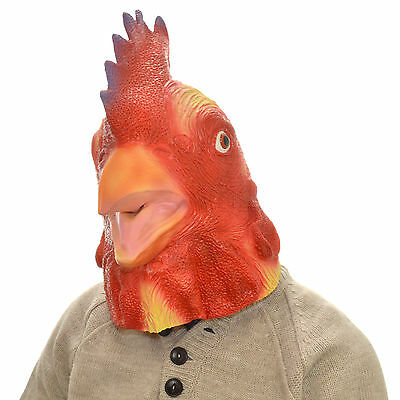 Latex Full Overhead Chicken Mask Halloween Fancy Dress Party Stag Hen Night • 12.99£