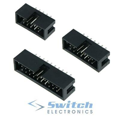 IDC Straight Pin Boxed PCB Header Connectors 2.54mm - 10 14 16 20 26 Ways • 0.99£