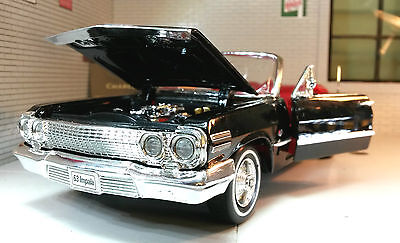 £24.95 • Buy 1:24 Scale Chevrolet Impala Cabrio 1963 Welly Diecast Detailed Model Car 22434