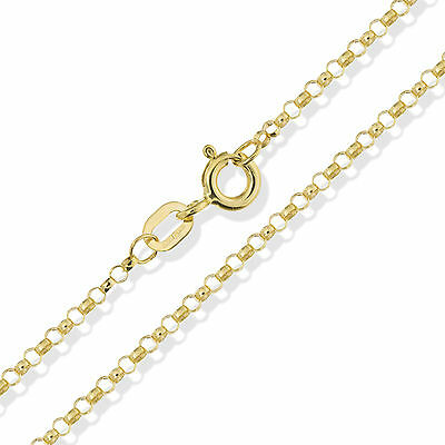 £49.99 • Buy 375 9ct Gold Belcher Chain 16  18  20  Solid Yellow Round Link Pendant Necklace