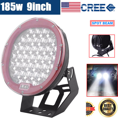AU94.95 • Buy 9inch 185W CREE LED DRIVING LIGHT OFFROAD ROUND SPOTLIGHT WORK AUTO LAMP 4WD