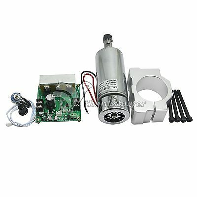 CNC ROUTER MILLING Air-Cooled 0.4KW Spindle Motor & PWM Speed Controller & Mount • 59.11£