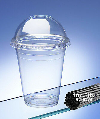 £13.19 • Buy Avenue Smoothie Cups With Dome Lids And Straws Capacity 16oz / 470ml Pack Of 50