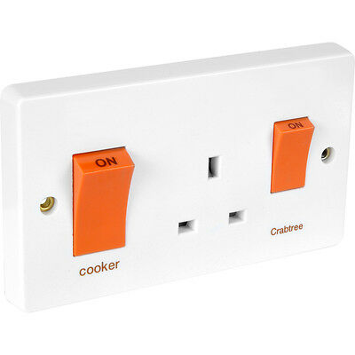 £19.98 • Buy NEW Crabtree Cooker Switch And Socket 45A 13A DIY