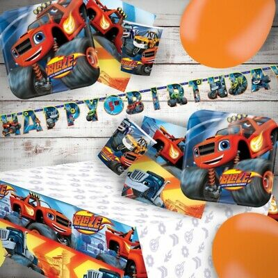 Blaze And The Monster Machines Party Tableware, Decorations And Balloons • 11.99£