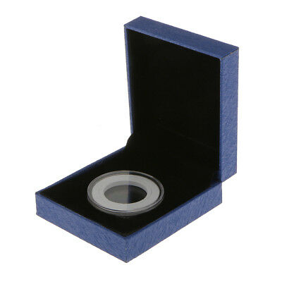 £4.58 • Buy Coin Medal Presentation Display Box W/ Single Clear Capsule 38MM Coins Blue
