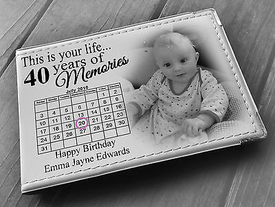 £15.99 • Buy Personalised Guestbook Photo Album 36 X 6x4  Photos 40th Birthday Party Present