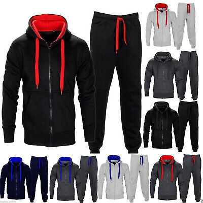 New Mens Tracksuit Set Fleece Hoodie Top Bottoms Joggers Gym Trackies Jogging • 14.45£