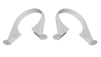 £4.99 • Buy 2 X 110mm WHITE Soil & Vent Pipe Clips Support Brackets