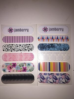 AU4.95 • Buy JAMBERRY Sample Sheet 2 Feature Nails: Accent Nails Fun Colours Home Mani