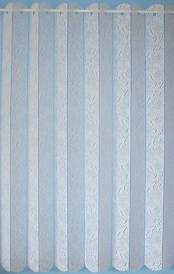 Louvre Blind Style White Lace Curtains- Valencia- Cheap - Great Value / Quality  • 5.99£