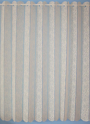 Louvre Blind Style Lace Curtains- Valencia - Cheap -great Value / Quality -cream • 6.99£