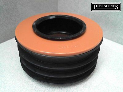 Waste To Soil Adapter Cap Pipe Reducer 110mm 4  To 50mm 55mm 2  Underground • 12.70£