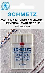 Sewing Machine Needle - Schmetz Twin Needles Various Sizes  (Pack 1) • 3.75£