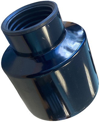 Waste Pipe To Soil Pipe Adapter Cap Pipe Reducer 110mm To 50mm (55mm) 2  Black • 15.99£