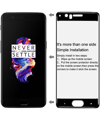 AU4.49 • Buy Full Coverage Tempered Glass Screen Protector Film For OnePlus 3 3T 5 6 For 1+