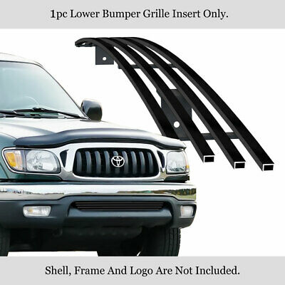 $59 • Buy Fits 01-04 Toyota Tacoma Black Bumper Stainless Steel Billet Grille Insert