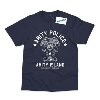 Amity Island Police Inspired By Jaws Movie Printed T-Shirt • 8.95£