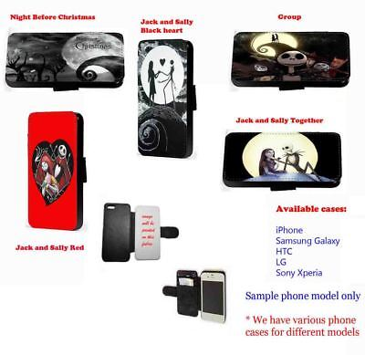 Nightmare Before Christmas Jack Sally Faux Leather Phone Case IPhone • 11.20£