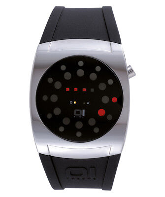 $72.26 • Buy 01 The One Lightmare Led Cool Fashion Watch Ll102r3 Round Dial Pu Strap