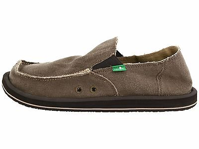Sanuk Vagabond Brown Men's Slip On Sidewalk Surfers SMF1001  • 35.66£