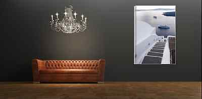 AU82.50 • Buy Stunning Santorini  Seascape Canvas Print Mounted  60x90cm  Other Sizes Avail.