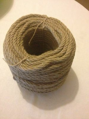100%Natural Jute Rope Cord Braided Twisted Boating Sash Garden Decking 4MM-40 MM • 5.82£