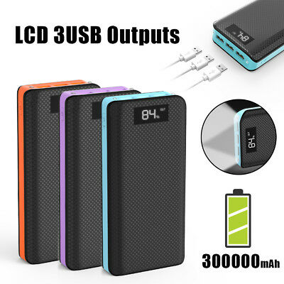 View Details Portable 300000mAh External Power Bank Pack USB Battery Charger For Mobile Phone • 21.79£