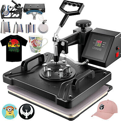 AU265.90 • Buy 8 In 1 T-Shirt Heat Press Transfer Sublimation Hat Digital Latte Mug Printer