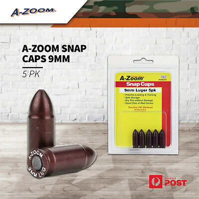 AU40.15 • Buy A Zoom 5Pk Gun Pistol Snap Caps 9Mm Cal Made In Usa Firing Pin Dummy Round Shoot
