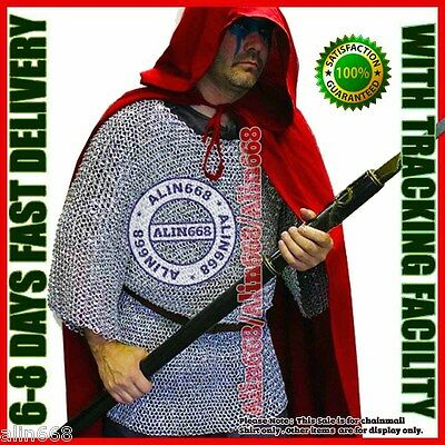 £15 • Buy Medieval Aluminium Chainmail Shirt Butted Chain Mail Armor For Role-Play Theatre