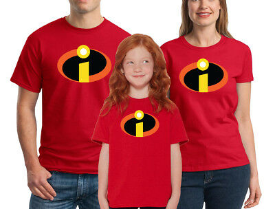 $16.95 • Buy The Incredibles T-shirt Disney Family Halloween Costume Shirts Adult Kid Cosplay