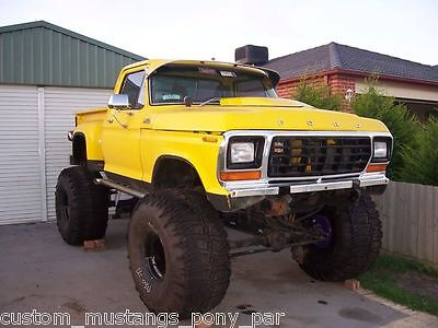 AU9900 • Buy Ford F150 Stepside 4x4 Monster Truck Project 400m C6 9  Lift F100 F250 Bronco V8