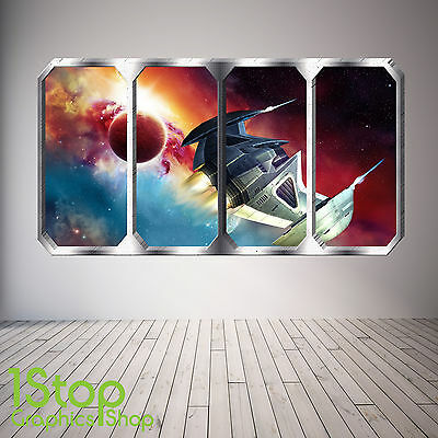 Space Planet Window Wall Sticker Full Colour - Earth Planets Space Ship Sp20 • 12.59£