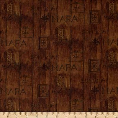 Digital Print  Sonoma Country Wine Wood Slat 100% Cotton Fabric By The Yard • 8.38$