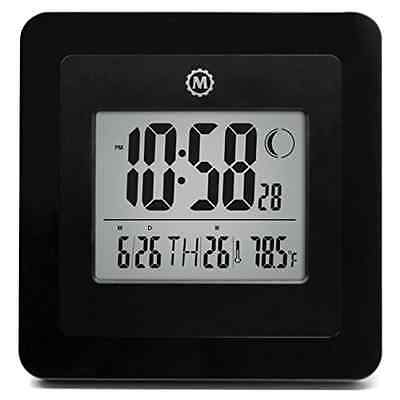 MARATHON Digital Wall Clock With Day, Date, Week Number, Temperature, Alarm, New • 15.18£