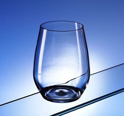 $12.51 • Buy Finest Pair Of Unbreakable Polycarbonate Water Glasses / Stemless Wine Glasses