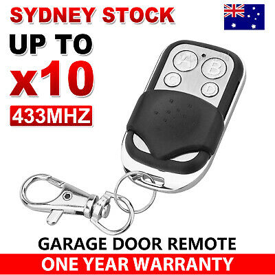 AU10.95 • Buy Universal Replacement Garage Door Car Gate Cloning Remote Control Key Fob 433