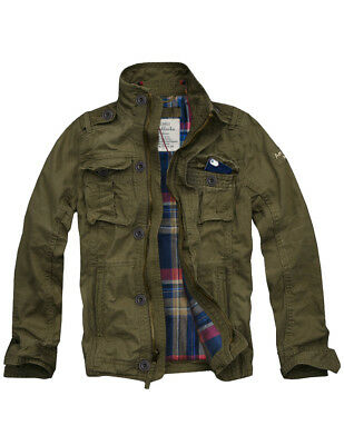 $99.99 • Buy Mens CALI HOLI Flannel Lined Military Cargo Jacket Olive 155022